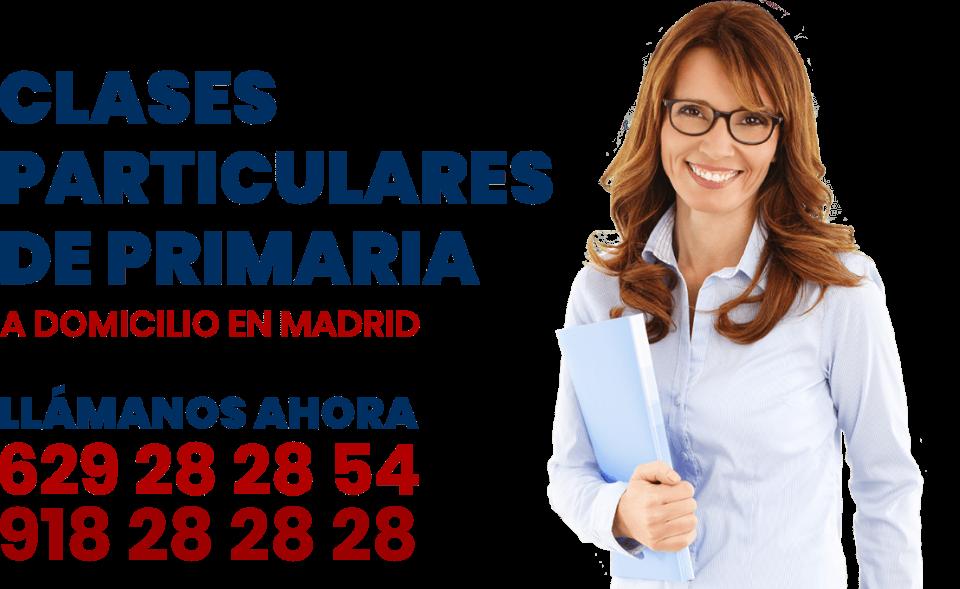 Clases particulares a domicilio de primaria en Madrid